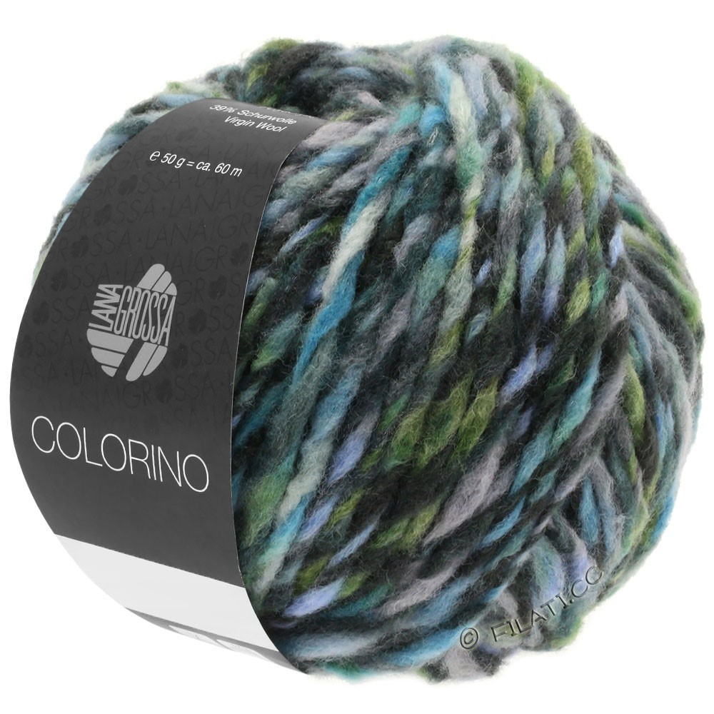 Lana Grossa COLORINO | 10-gray/anthracite/light blue/gray green