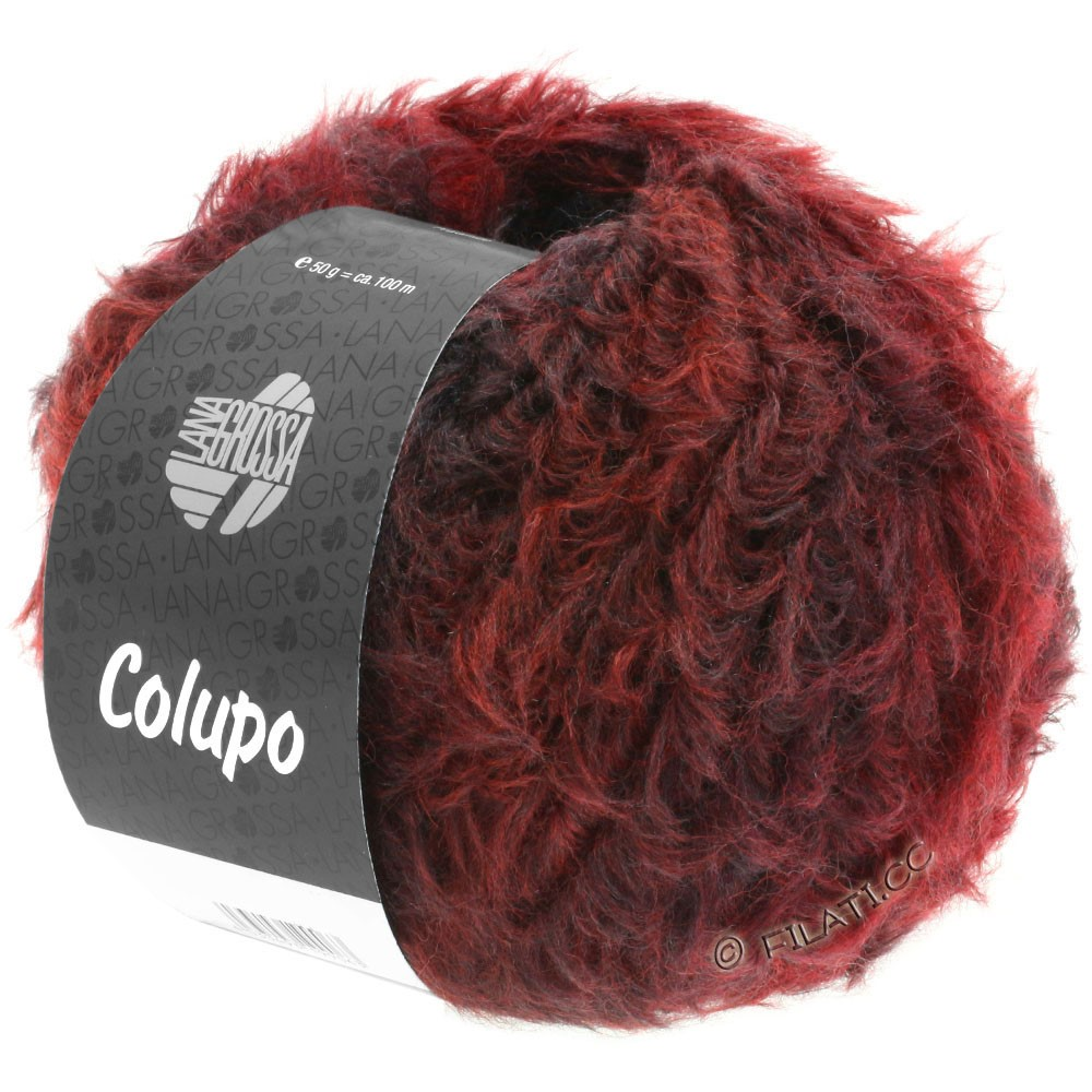 Lana Grossa COLUPO | 01-red brown/wine red