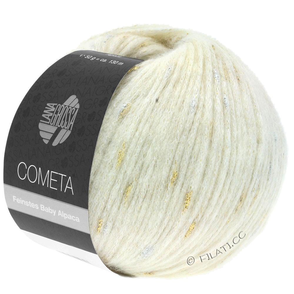Lana Grossa COMETA | 001-raw white/gold/silver