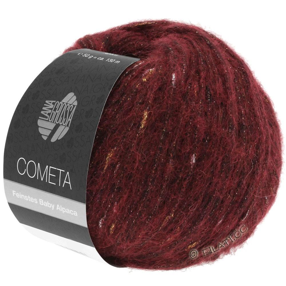 Lana Grossa COMETA | 005-dark red/gold/silver
