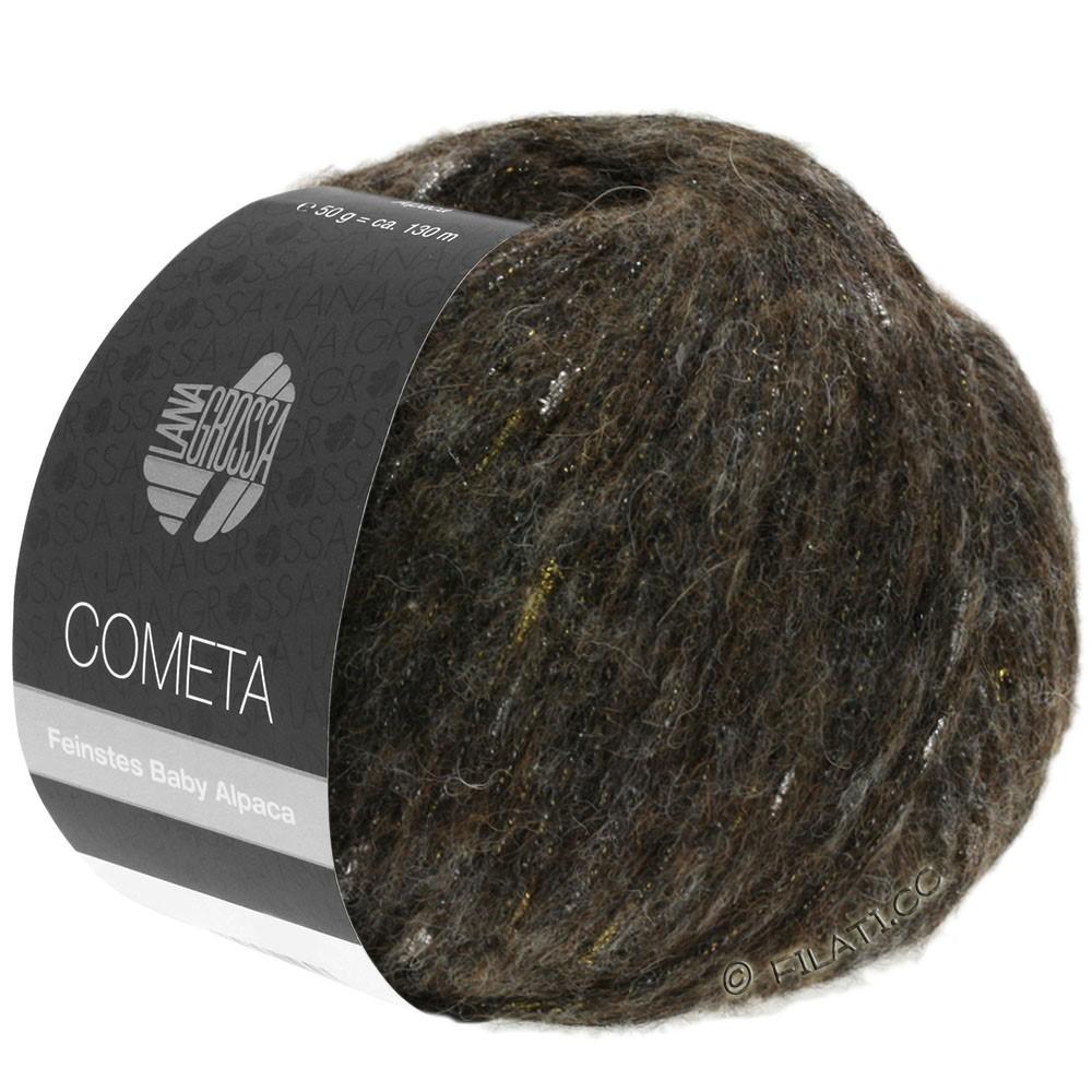 Lana Grossa COMETA | 012-black brown/gold/silver