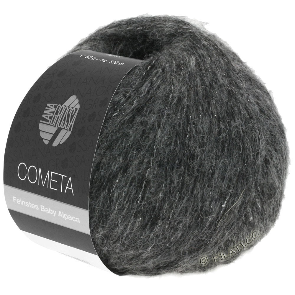 Lana Grossa COMETA | 014-dark gray/silver