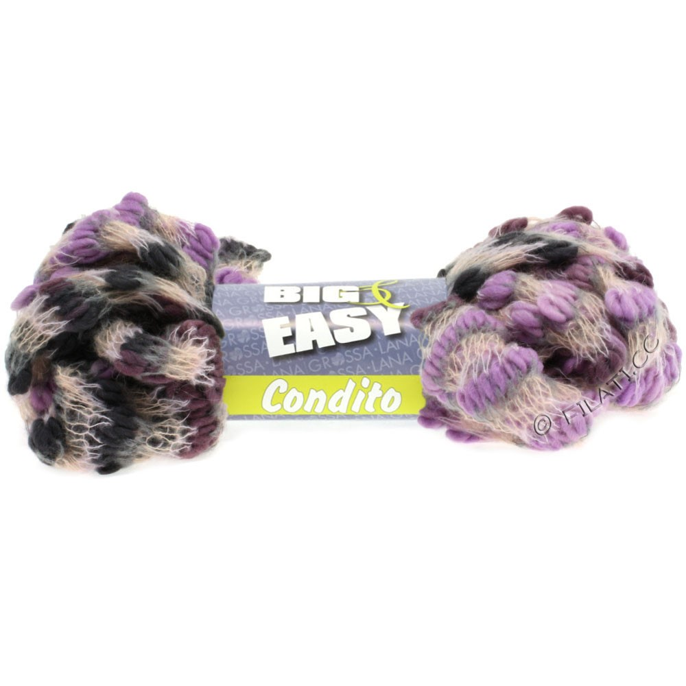 Lana Grossa CONDITO 150g (Big & Easy) | 06-lilac/rosewood/pearl/light gray/dark gray
