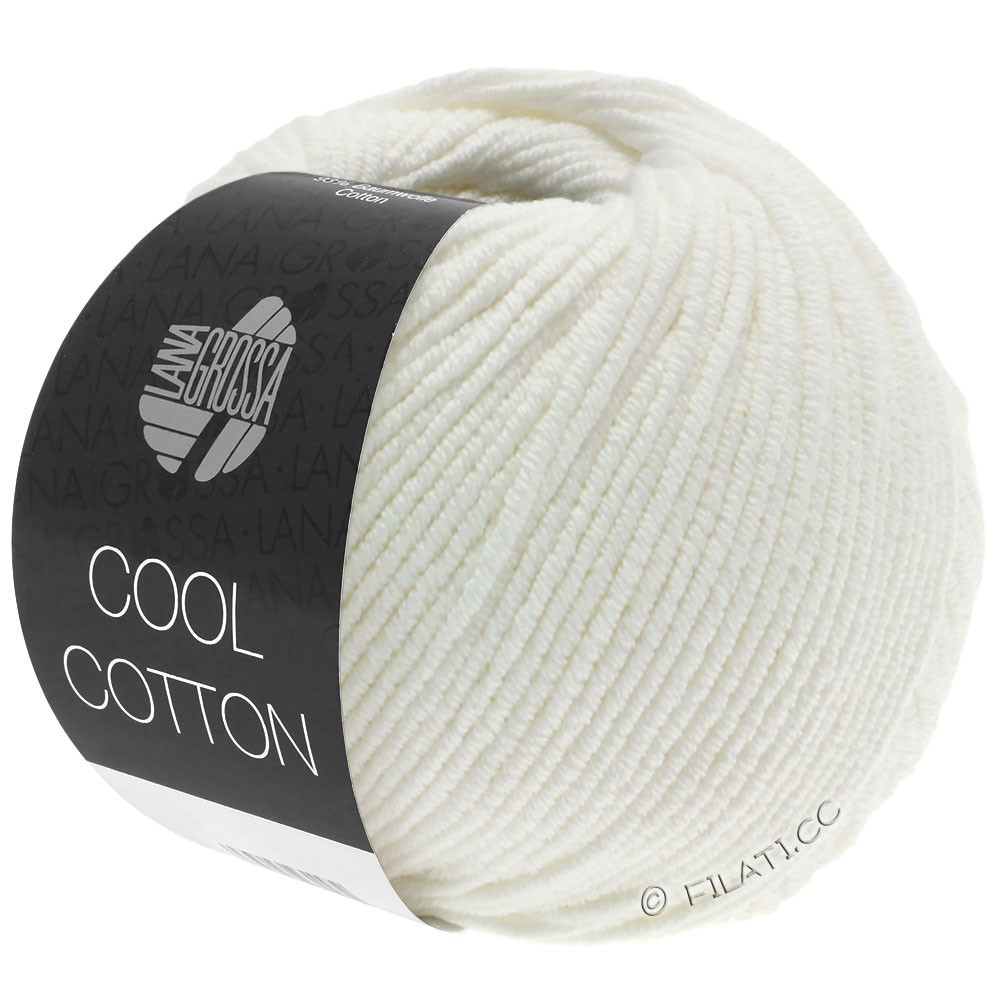 Lana Grossa COOL COTTON   02-raw white