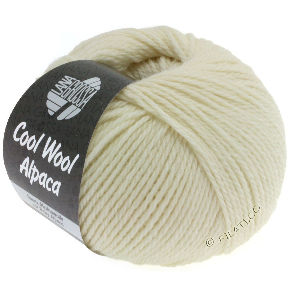 Lana Grossa COOL WOOL Alpaca | 13-raw white