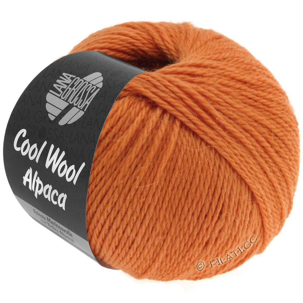 Lana Grossa COOL WOOL Alpaca | 24-orange