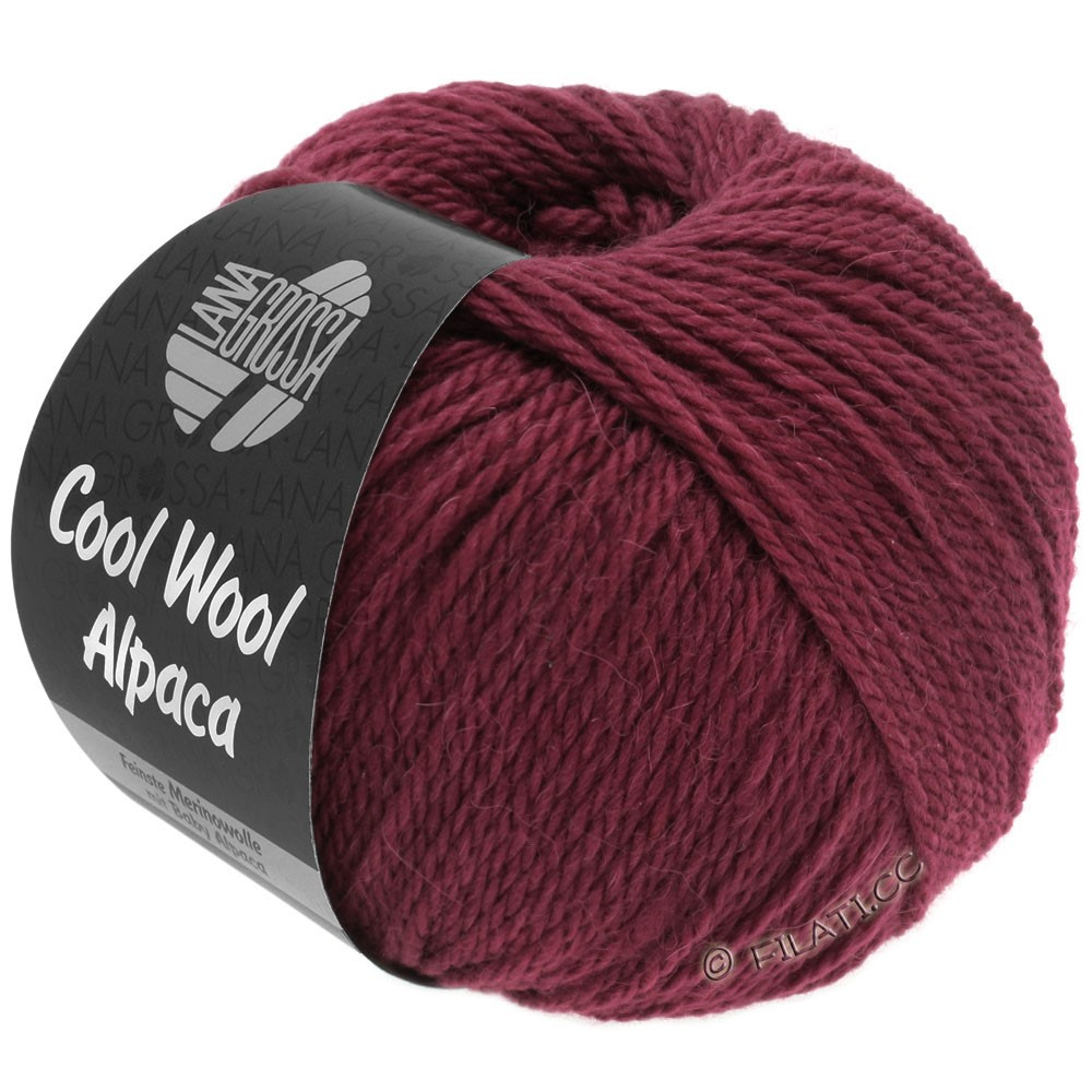 Lana Grossa COOL WOOL Alpaca | 30-bordeaux