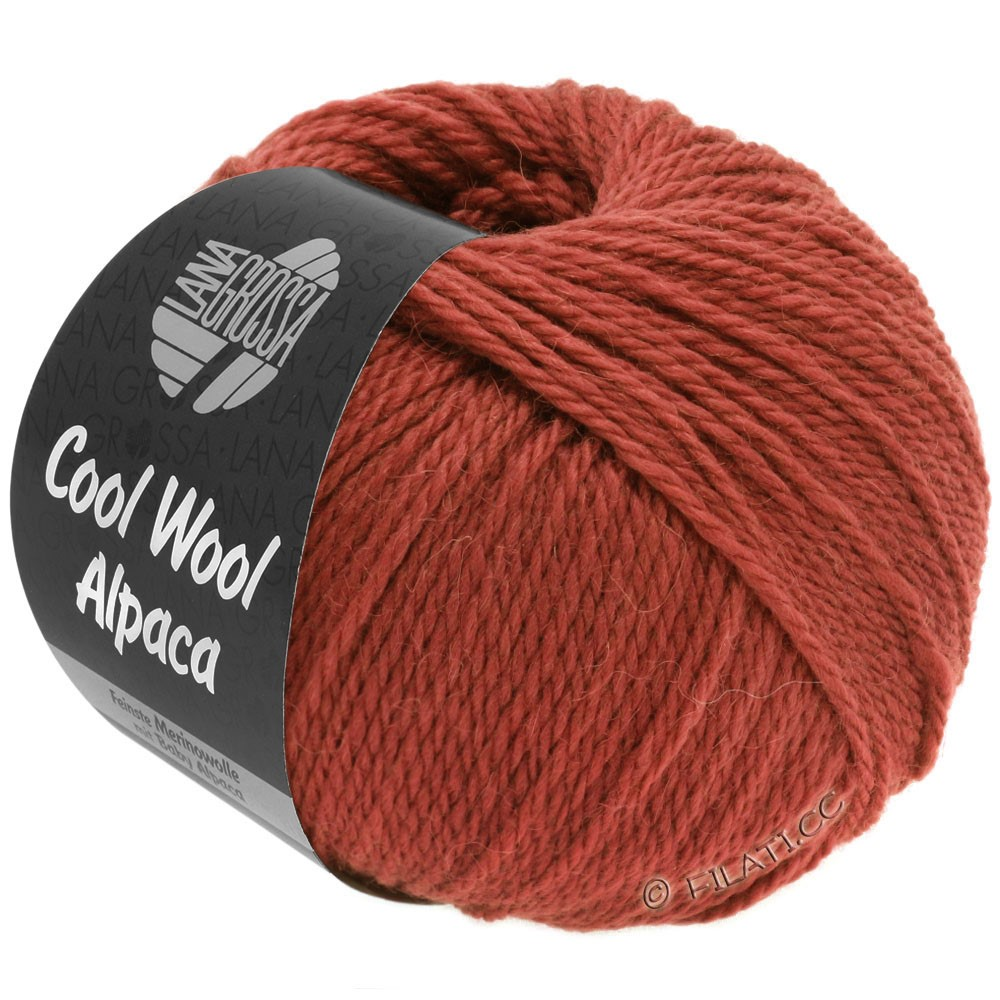 Lana Grossa COOL WOOL Alpaca | 33-brick red