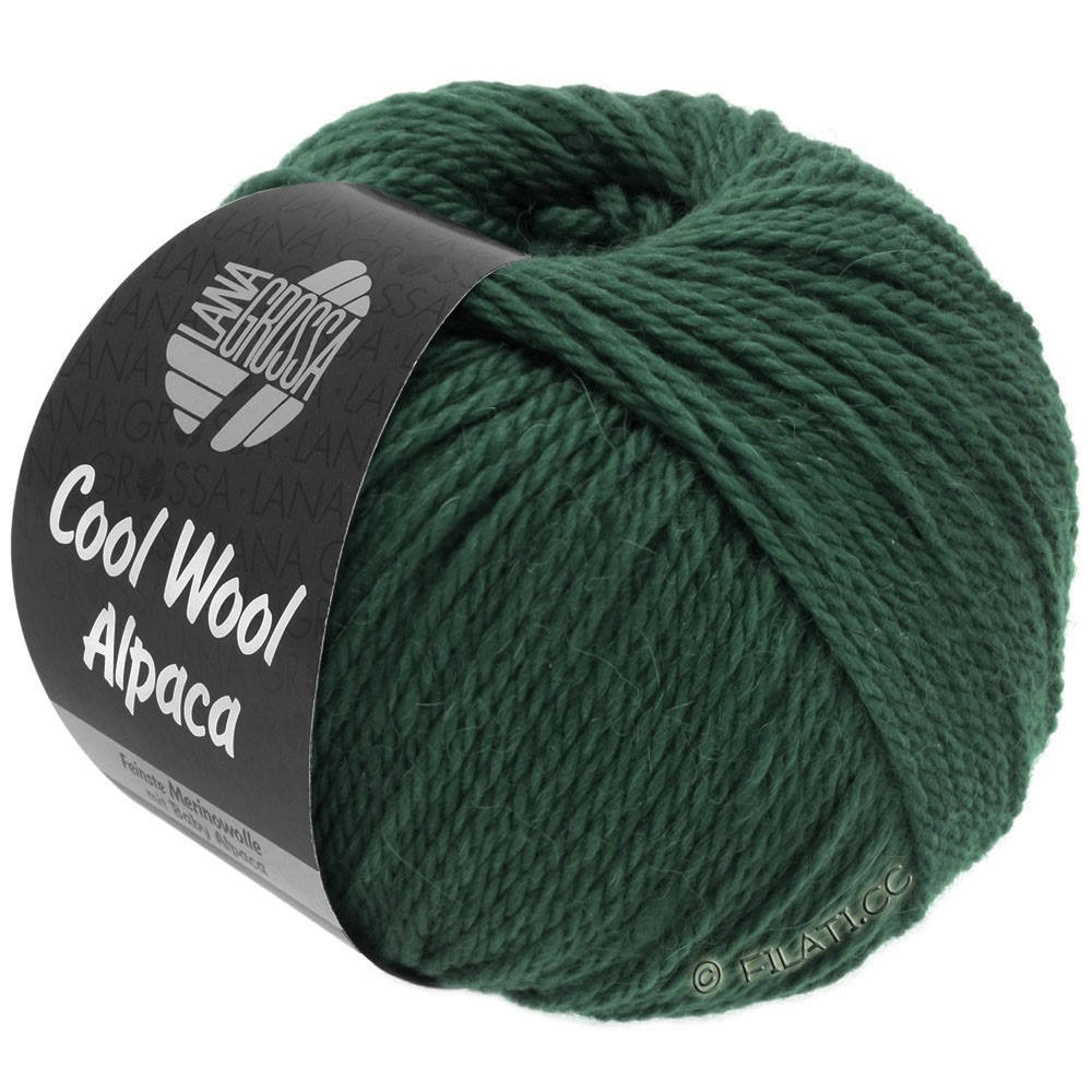 Lana Grossa COOL WOOL Alpaca | 34-dark green