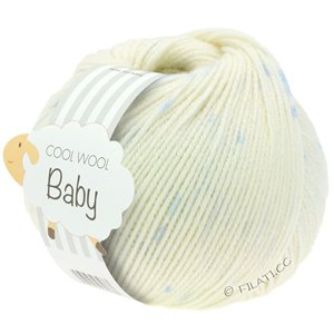 Lana Grossa COOL WOOL Baby 25g | 354-raw white/light blue/subtle purple