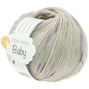 Lana Grossa COOL WOOL Baby 25g | 355-grège/purple