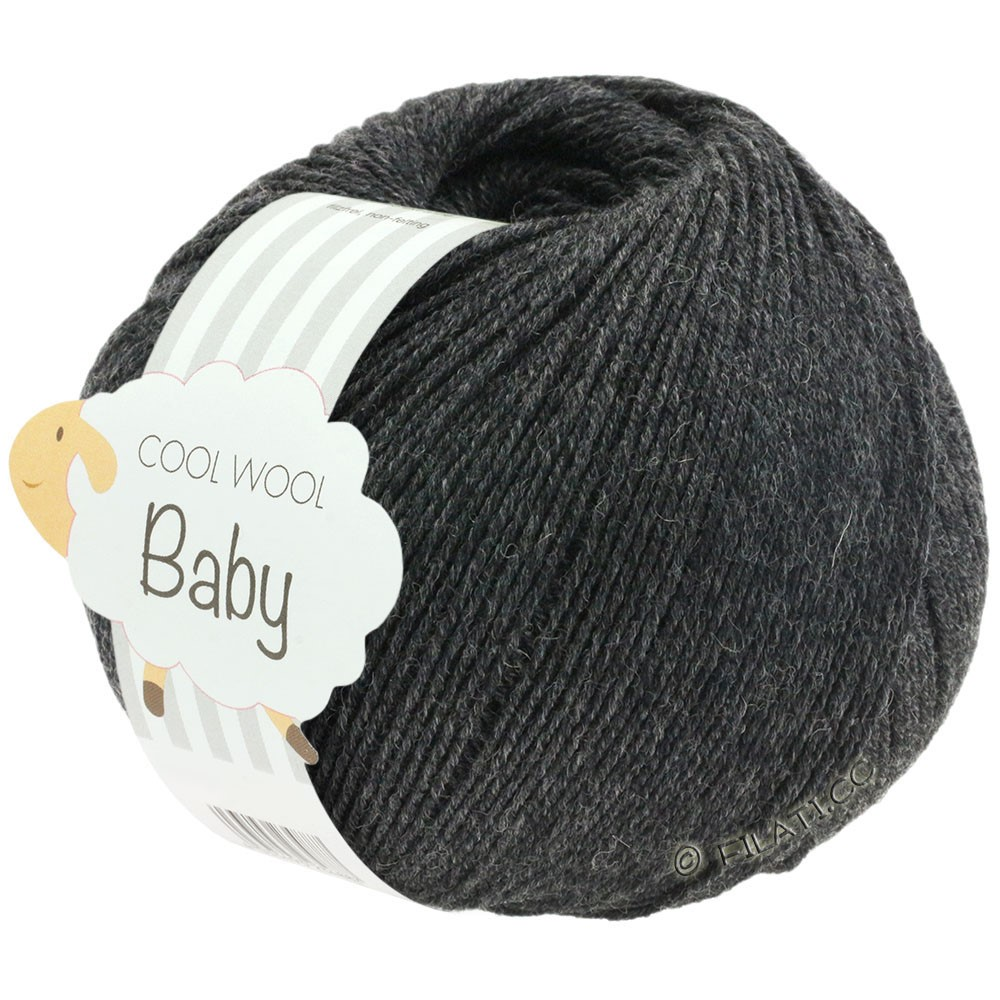 Lana Grossa COOL WOOL Baby Uni/Degradè | 205-anthracite