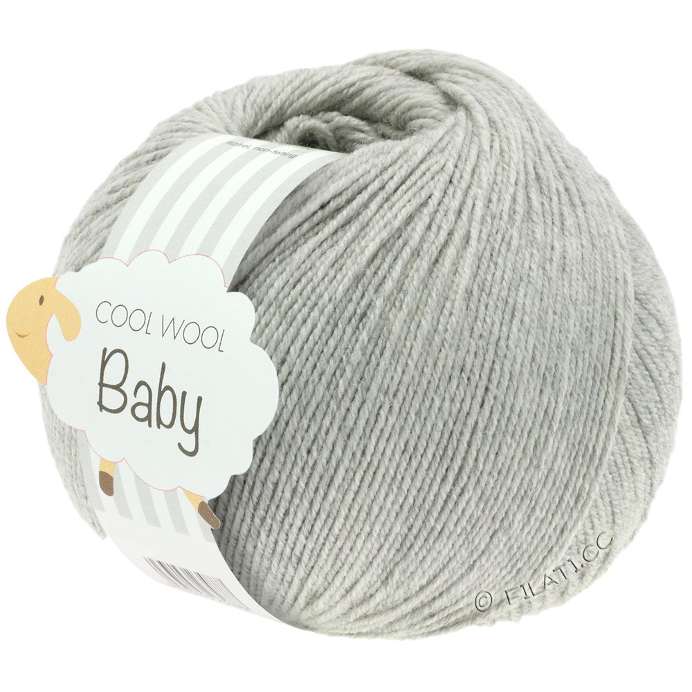 Lana Grossa COOL WOOL Baby Uni/Degradè | 206-light gray mix