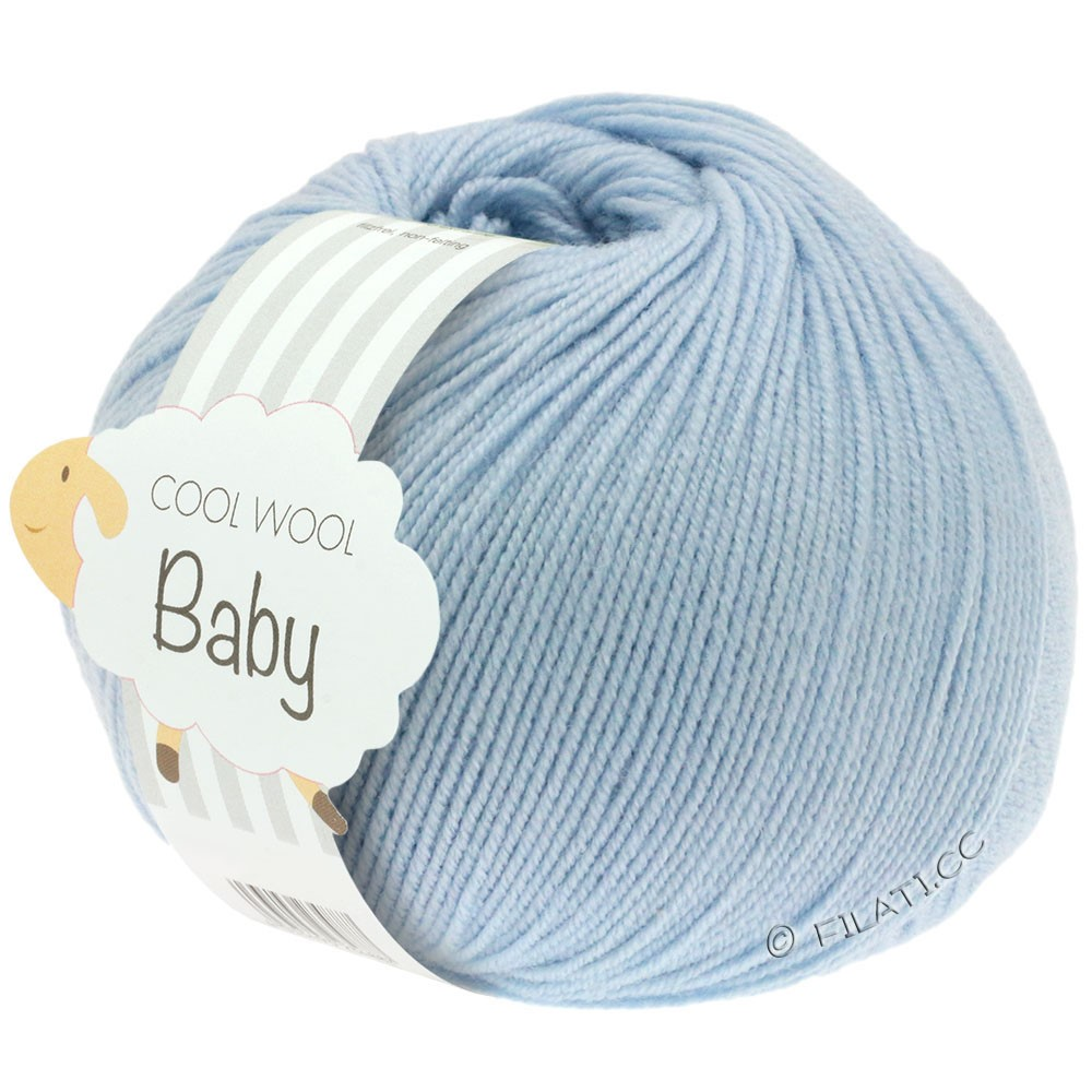 Lana Grossa COOL WOOL Baby Uni/Degradè | 208-light blue