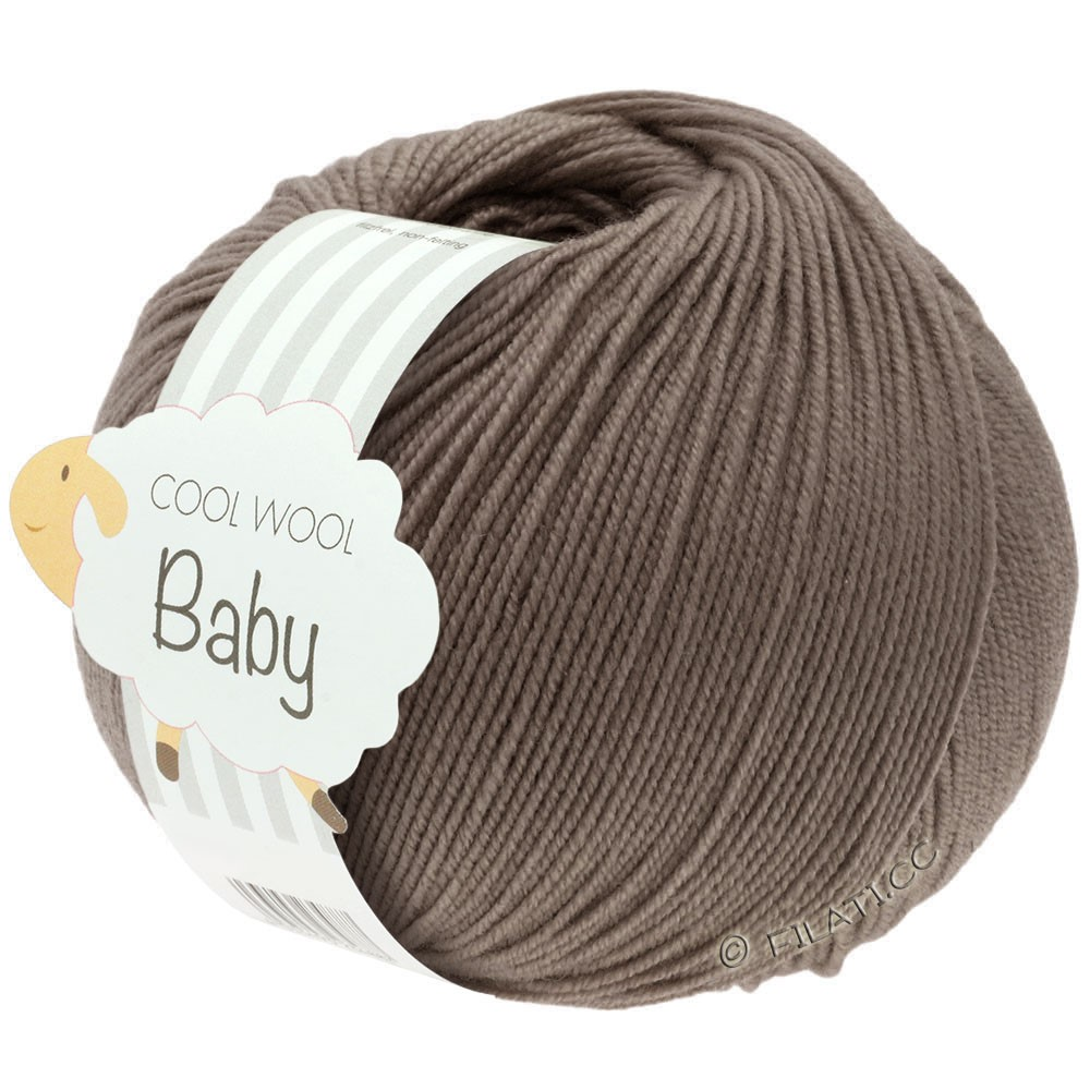 Lana Grossa COOL WOOL Baby Uni/Degradè | 211-gray brown