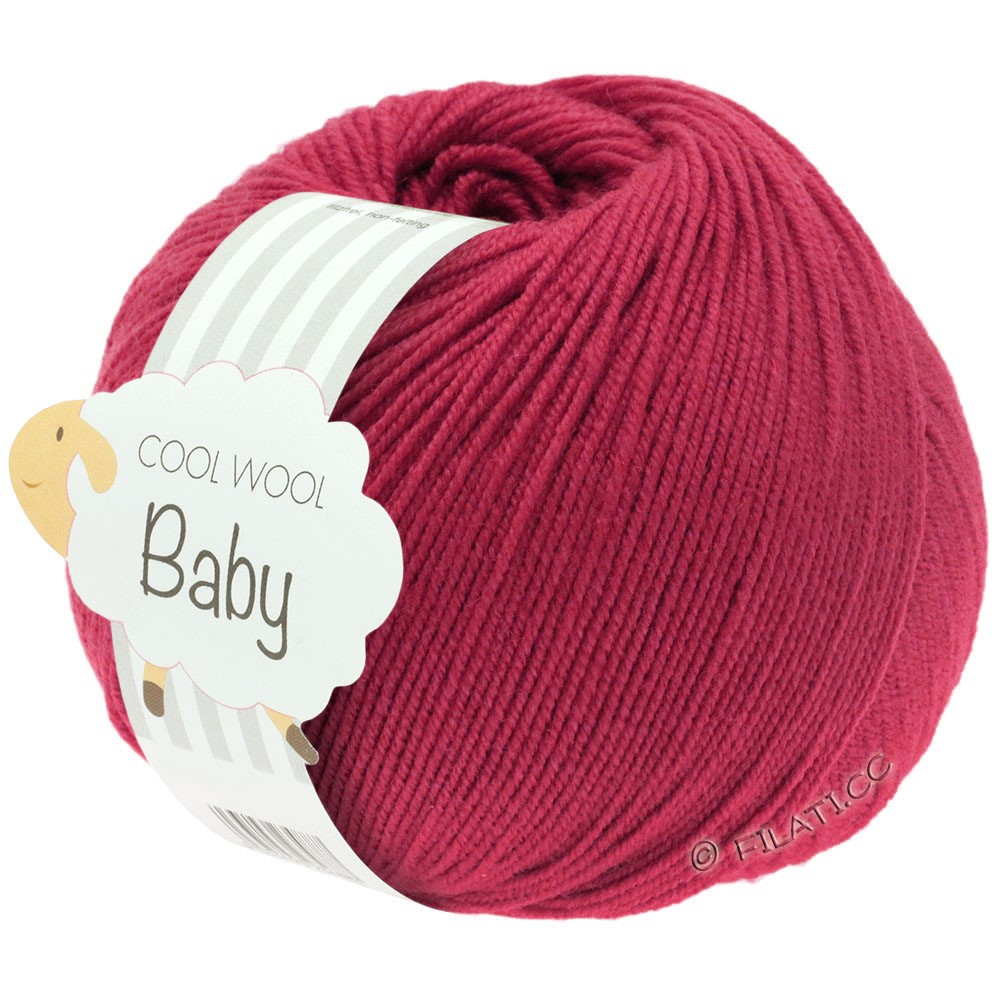 Lana Grossa COOL WOOL Baby Uni/Degradè | 220-cardinal red