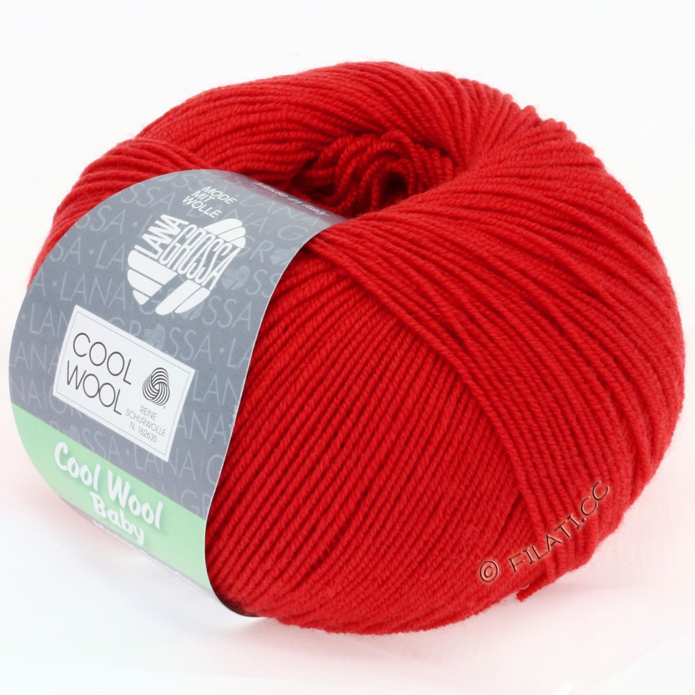 Lana Grossa COOL WOOL Baby Uni/Degradè | 221-cherry red