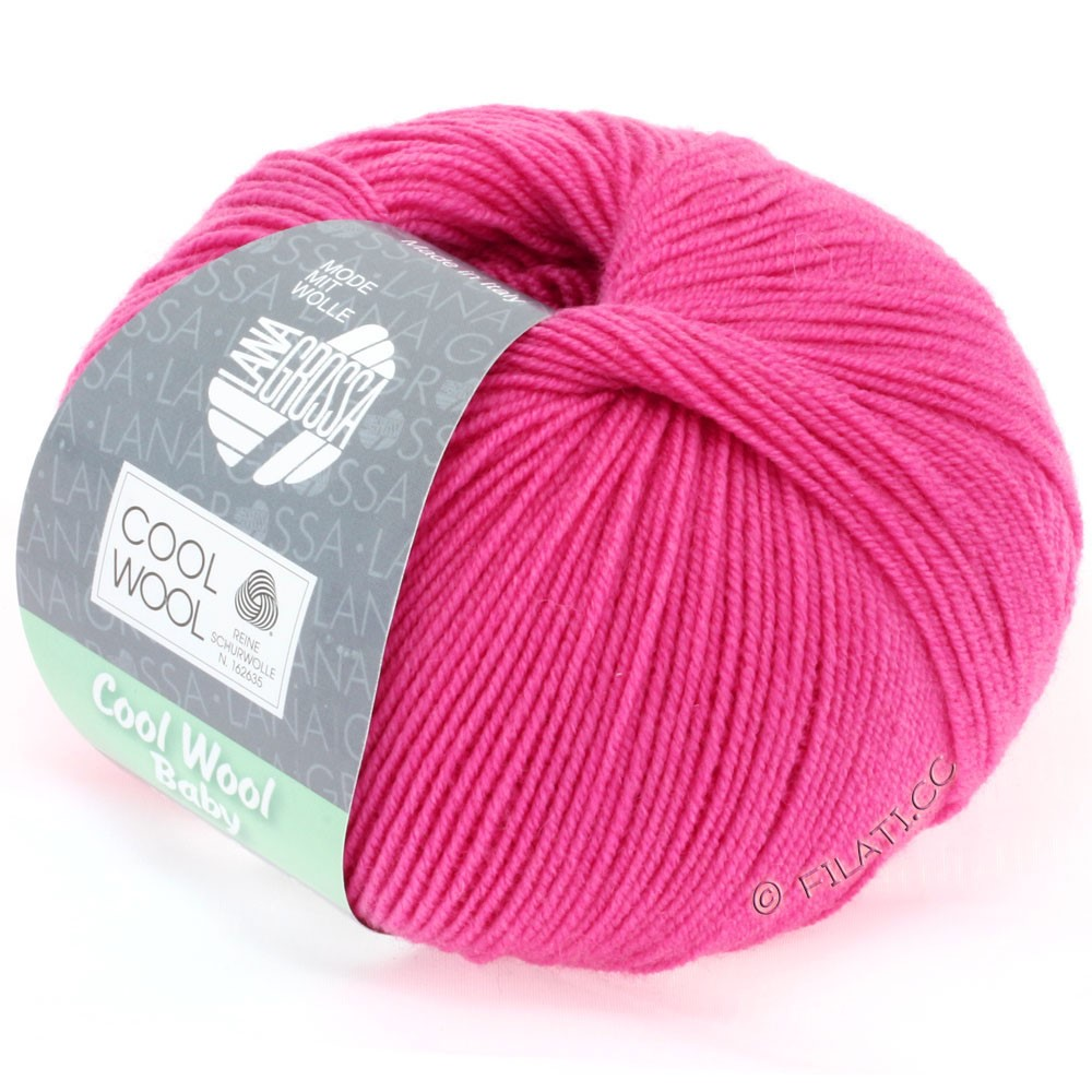 Lana Grossa COOL WOOL Baby Uni/Degradè | 225-pink