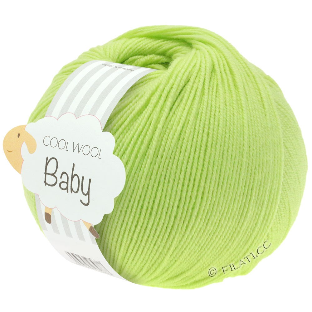 Lana Grossa COOL WOOL Baby Uni/Degradè | 228-lime