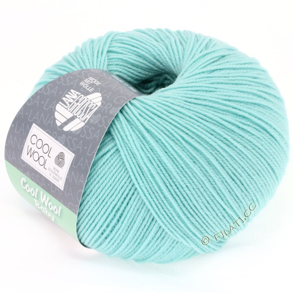Lana Grossa COOL WOOL Baby Uni/Degradè | 230-light turquoise