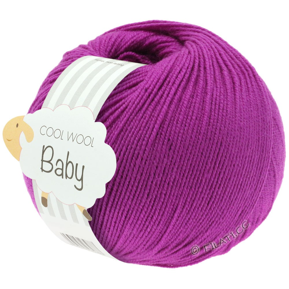 Lana Grossa COOL WOOL Baby Uni/Degradè | 236-cyclamen