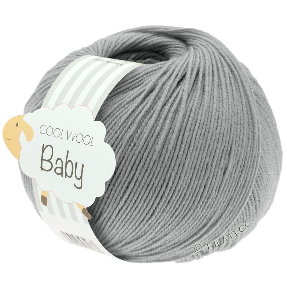 Lana Grossa COOL WOOL Baby Uni/Degradè | 241-light gray