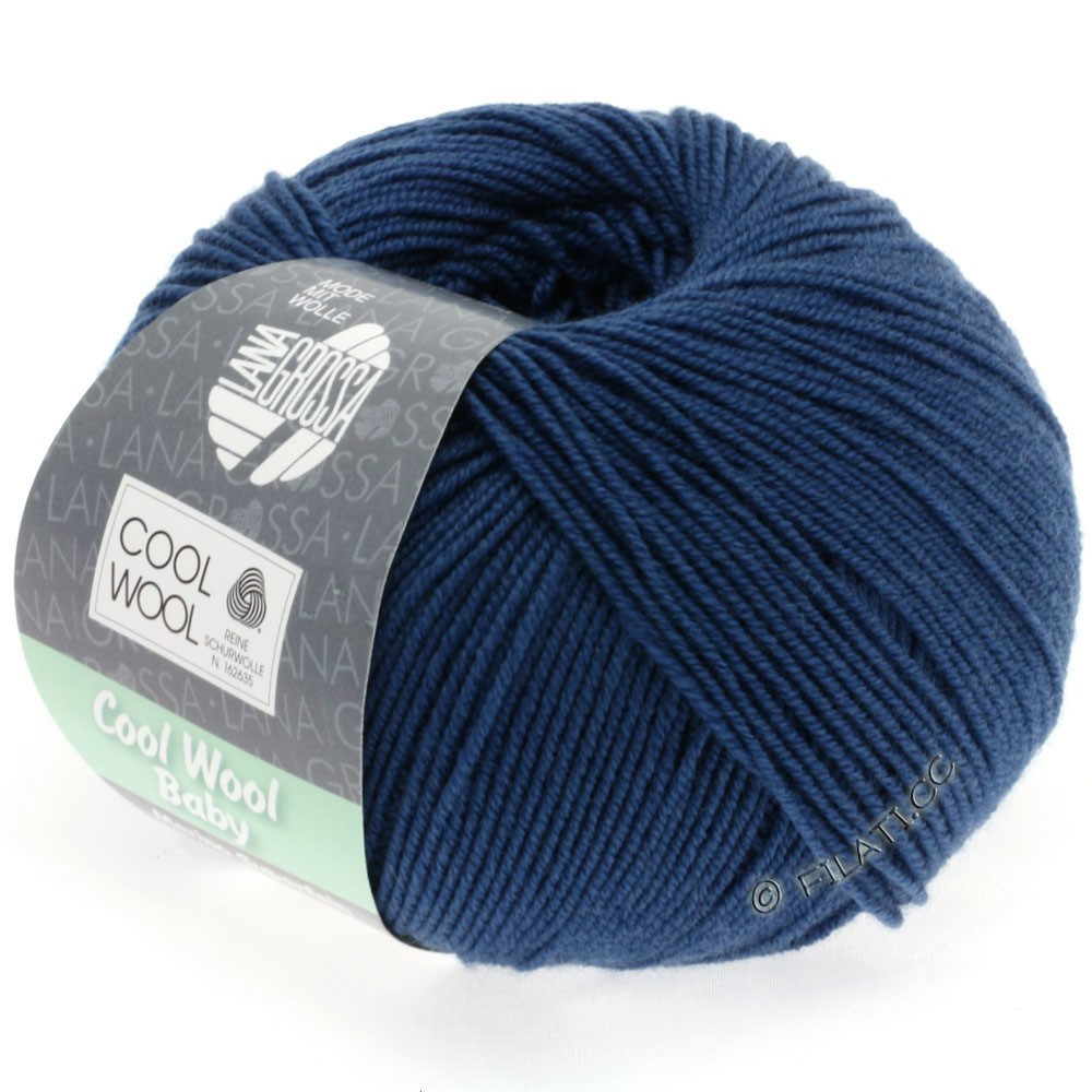Lana Grossa COOL WOOL Baby Uni/Degradè | 243-dark blue