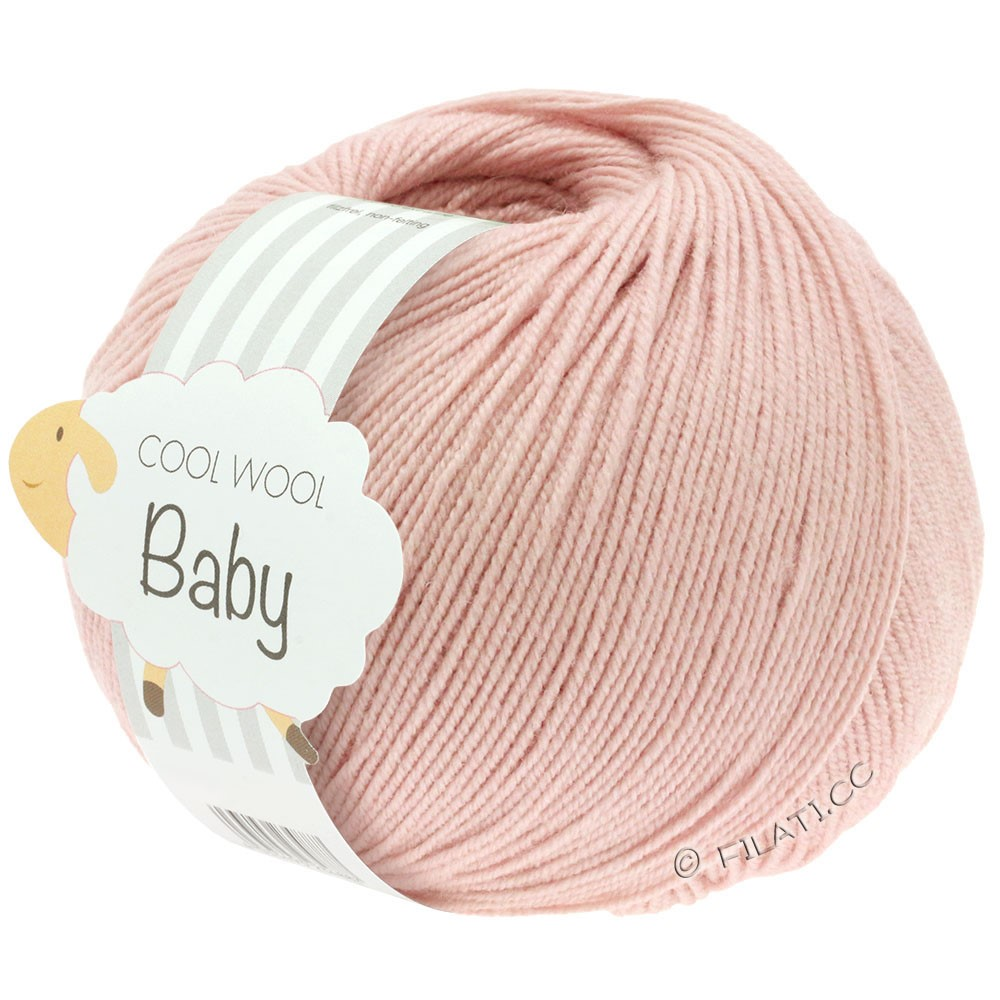 Lana Grossa COOL WOOL Baby Uni/Degradè | 246-powder pink