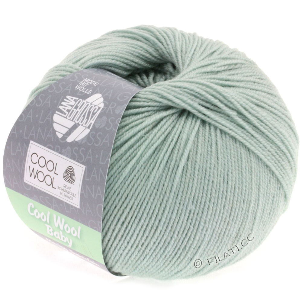 Lana Grossa COOL WOOL Baby Uni/Degradè | 247-gray green
