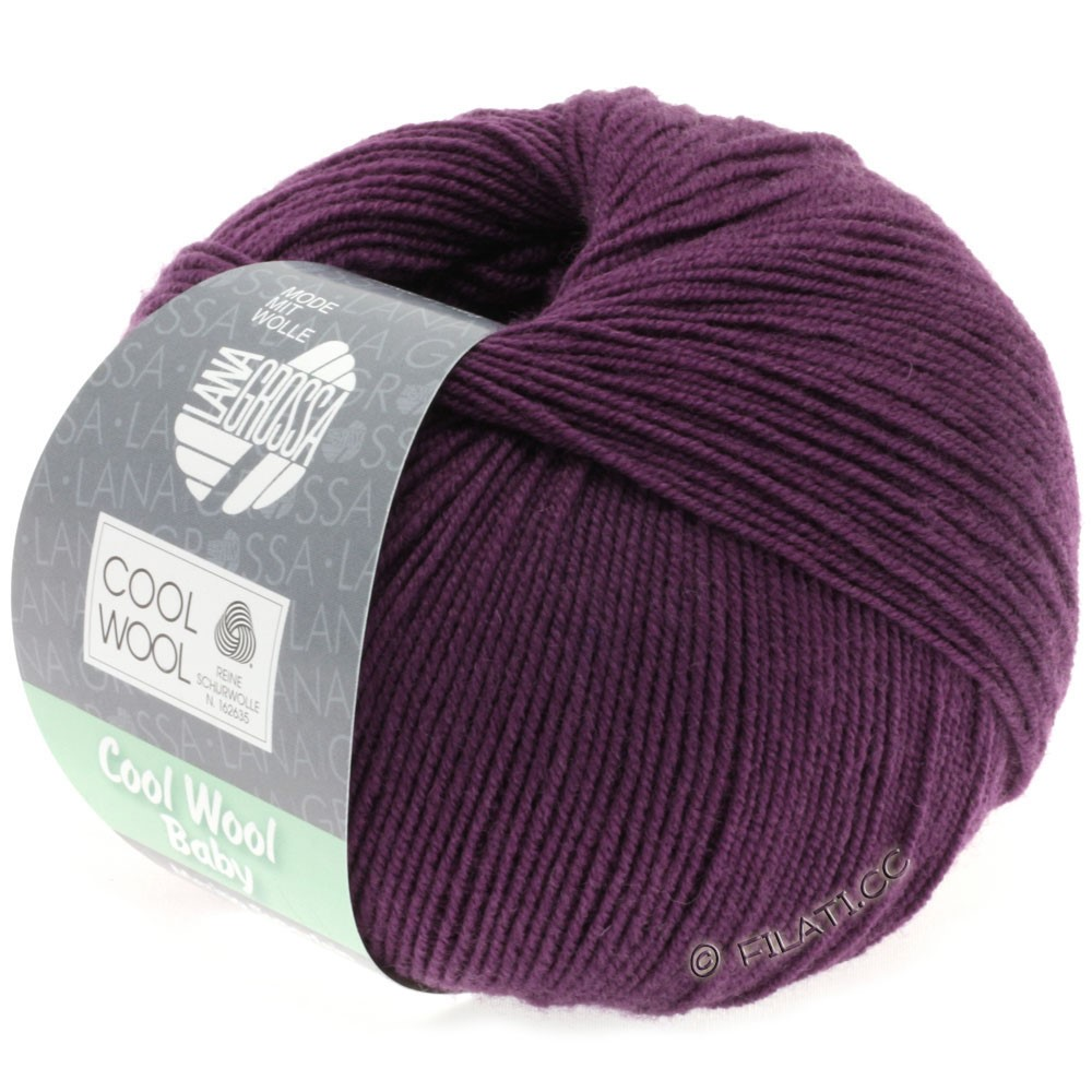 Lana Grossa COOL WOOL Baby Uni/Degradè | 248-dark violet