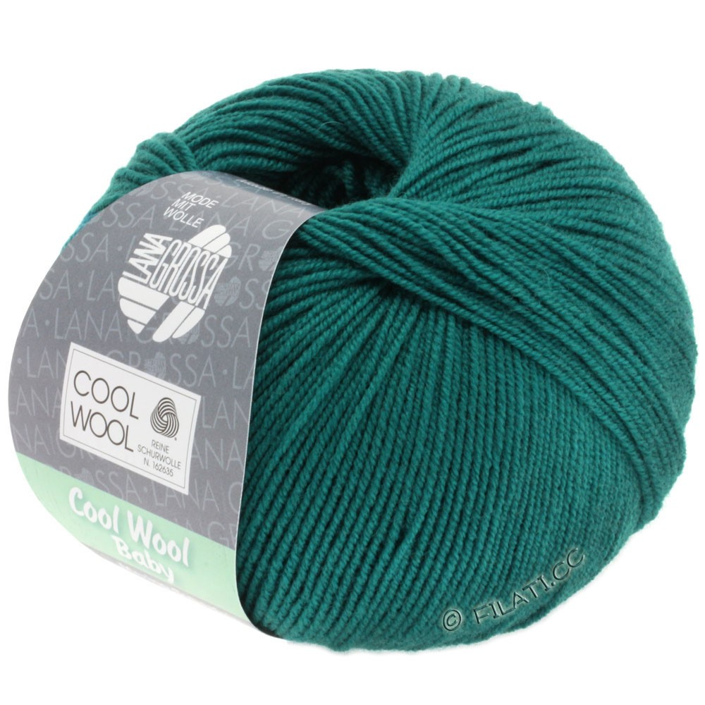 Lana Grossa COOL WOOL Baby Uni/Degradè | 249-petrol green