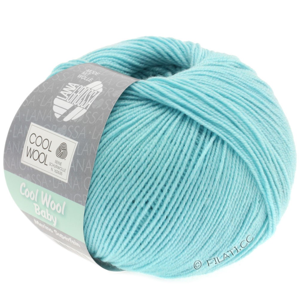 Lana Grossa COOL WOOL Baby Uni/Degradè | 253-ice blue