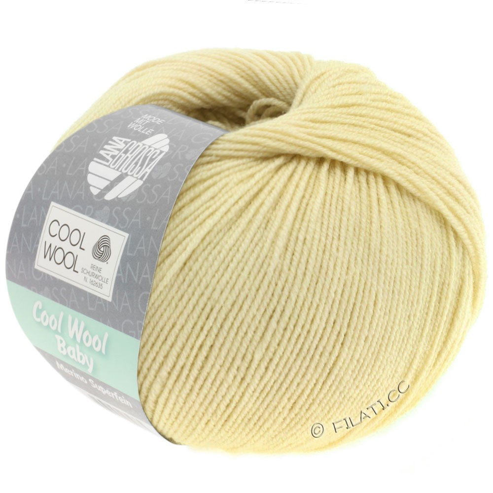 Lana Grossa COOL WOOL Baby Uni/Degradè | 256-pale yellow
