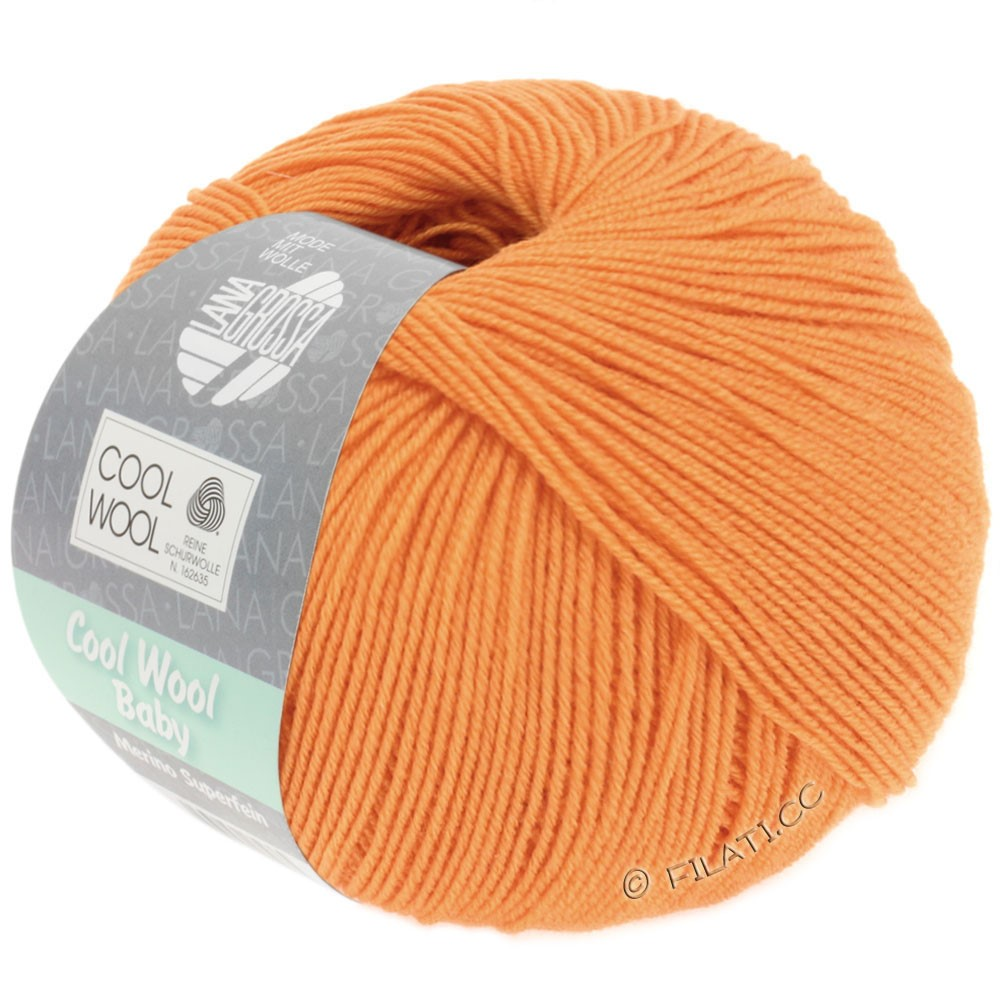 Lana Grossa COOL WOOL Baby Uni/Degradè | 260-light orange