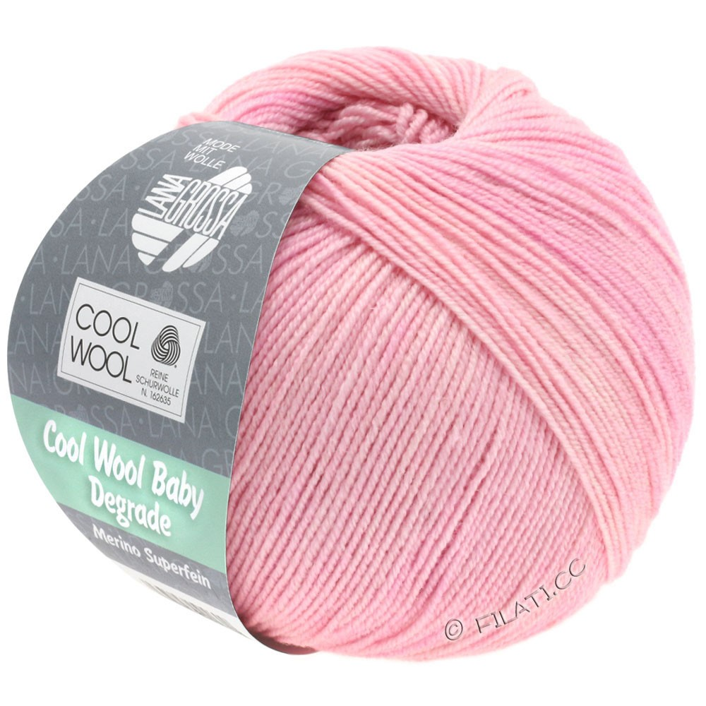Lana Grossa COOL WOOL Baby Uni/Degradè | 501-pale rose/rose/lilac