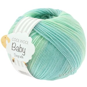 Lana Grossa COOL WOOL Baby Dégradé | 502-white green/pastel turquoise/light green