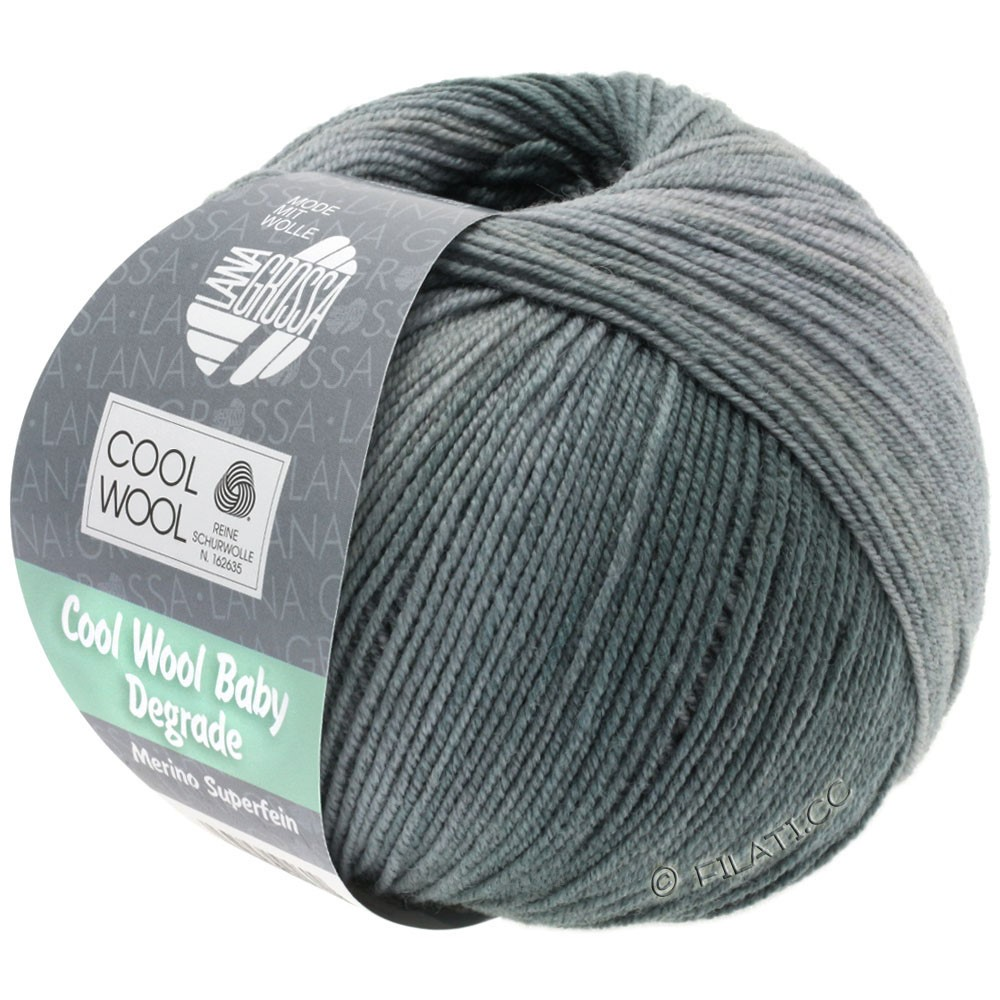 Lana Grossa COOL WOOL Baby Uni/Degradè | 506-silver gray/light gray/stone gray/graphit