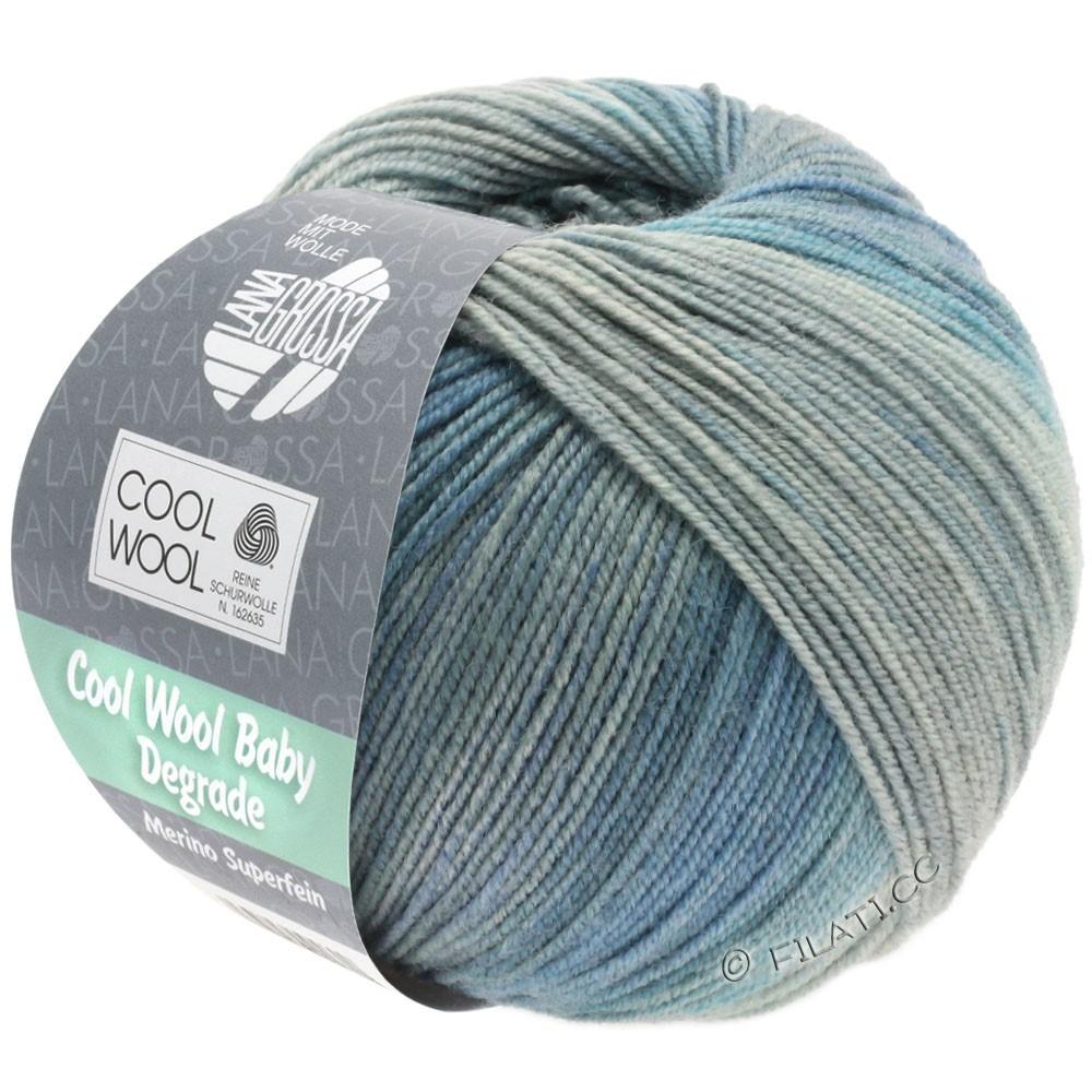 Lana Grossa COOL WOOL Baby Uni/Degradé | 509-light blue/medium blue/blue gray