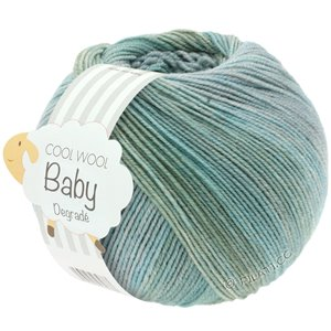 Lana Grossa COOL WOOL Baby Dégradé | 510-light gray/gray green/mint