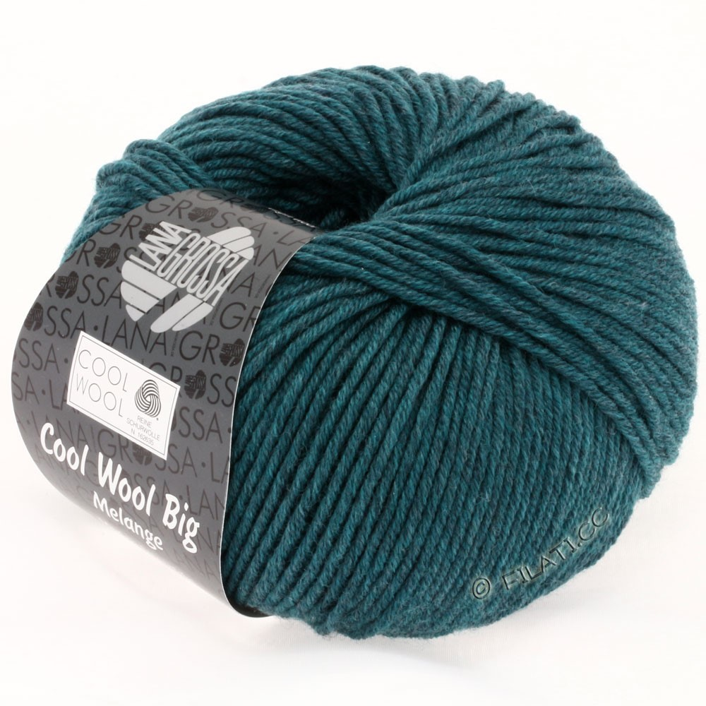 Lana Grossa COOL WOOL big uni/melange | 307-petrol mix