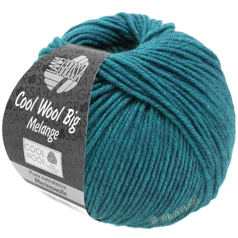 Lana Grossa COOL WOOL big uni/melange | 310-emerald mix