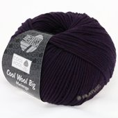 Lana Grossa COOL WOOL big uni/melange | 312-aubergine mix