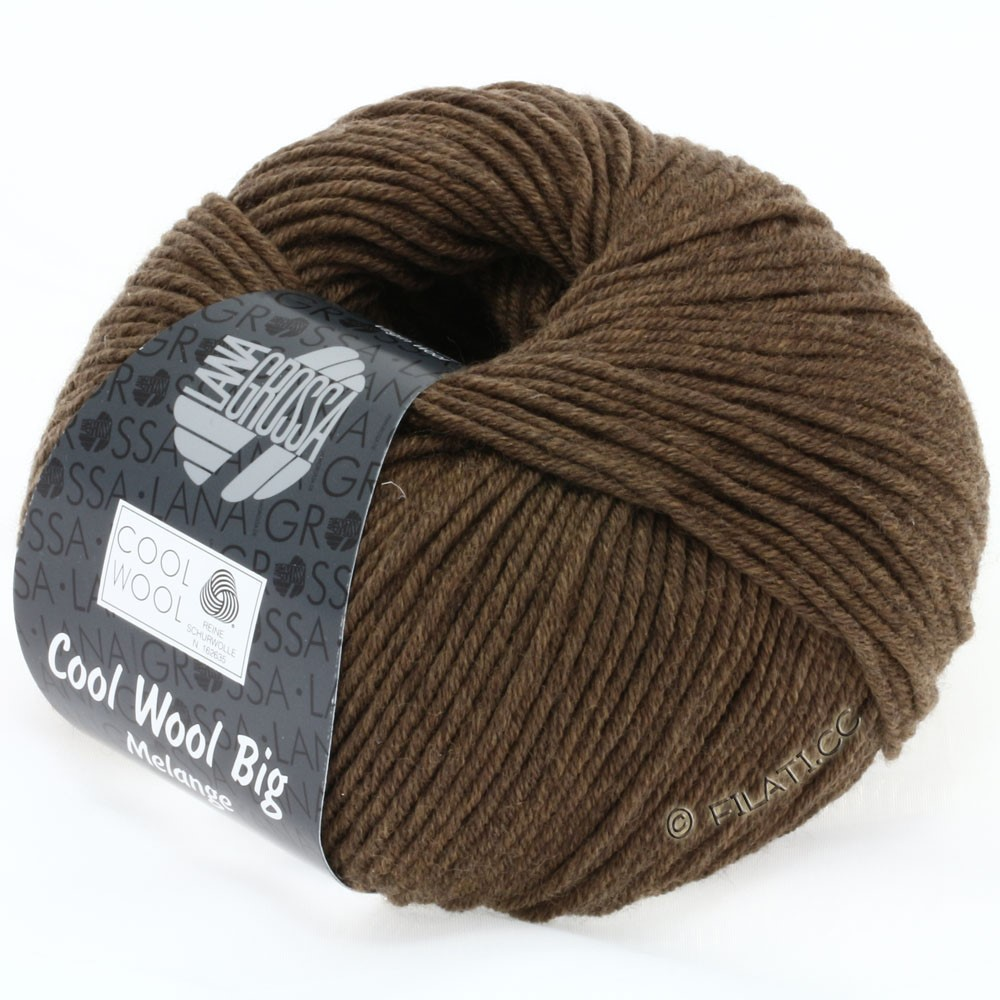 Lana Grossa COOL WOOL big uni/melange | 318-brown mix