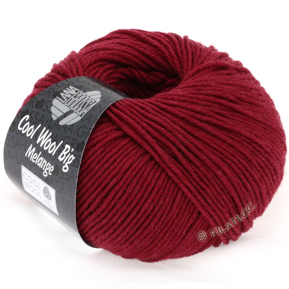 Lana Grossa COOL WOOL big uni/melange | 325-wine red mix