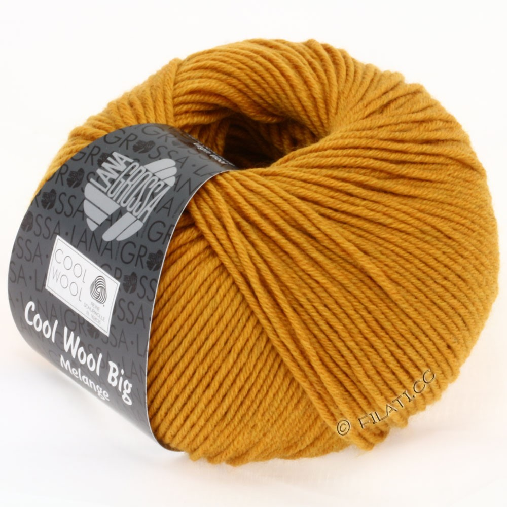 Lana Grossa COOL WOOL big uni/melange/print   0326-saffron yellow mix