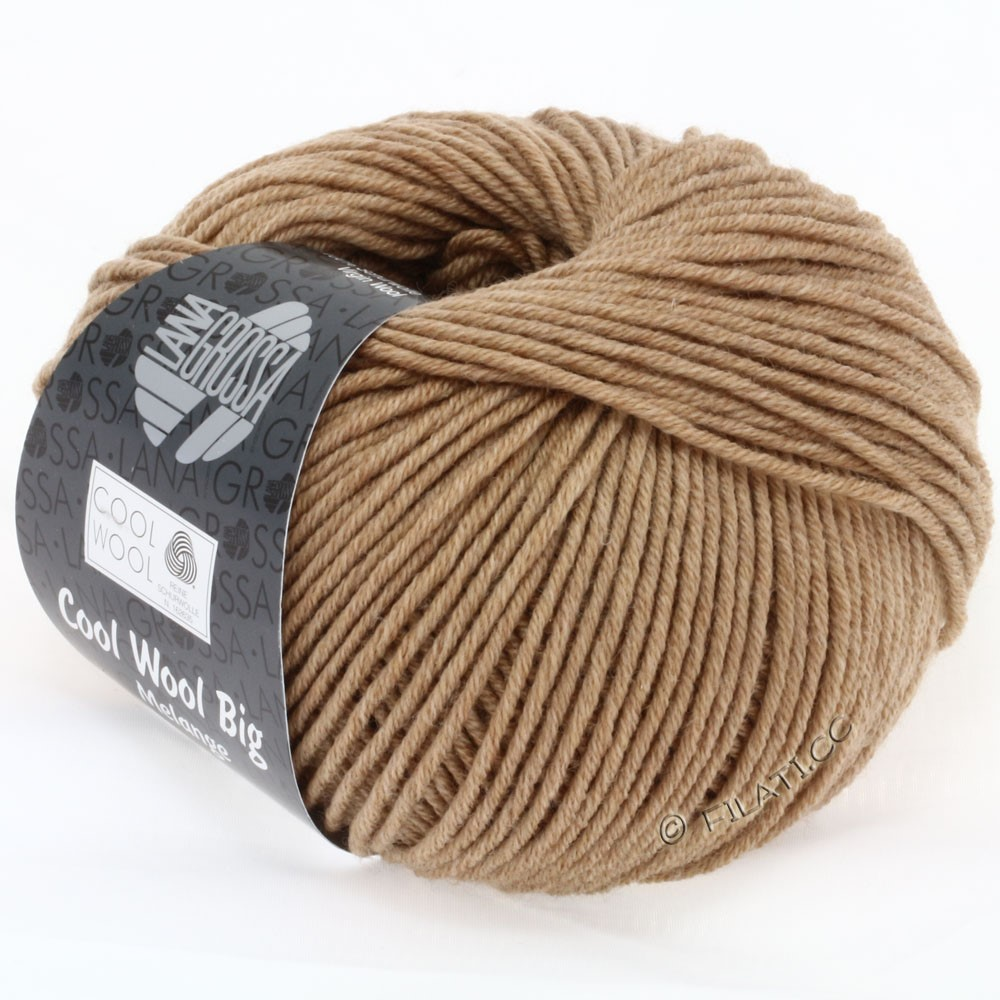 Lana Grossa COOL WOOL big uni/melange | 327-camel mix