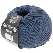 Lana Grossa COOL WOOL big uni/melange | 328-jeans mix