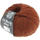 Lana Grossa COOL WOOL big uni/melange | 329-chestnut mix