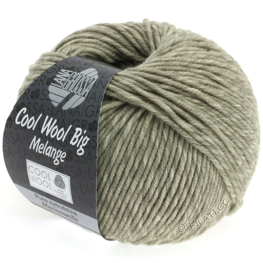 Lana Grossa COOL WOOL Big Uni/Melange/Print | 0331-gray beige mottled