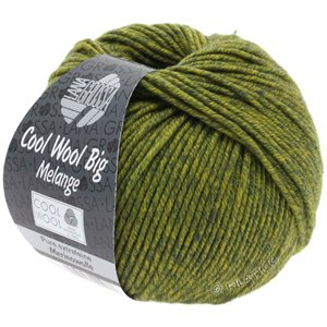 Lana Grossa COOL WOOL Big  Uni/Melange | 0340-dark olive/olive yellow mottled